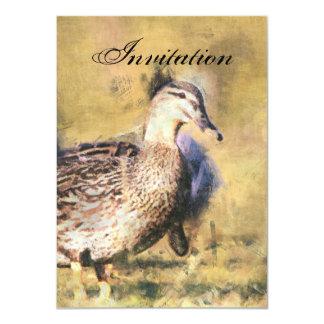 Invitación de la invitación del fiesta del pato