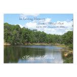 Invitación de la invitación del lago memorial