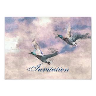 Invitación de la invitación del pato del vuelo
