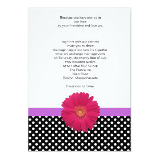 Invitación de la lavanda del lunar y del boda del