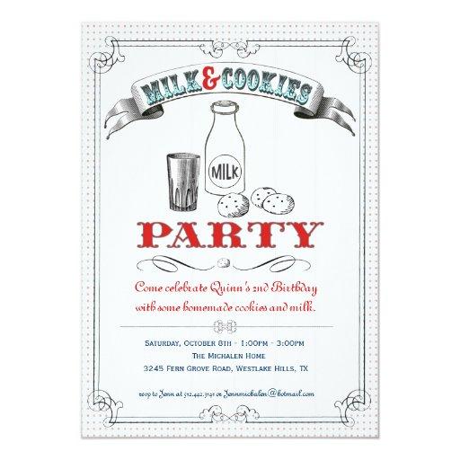 Invitación de la leche y del fiesta de las