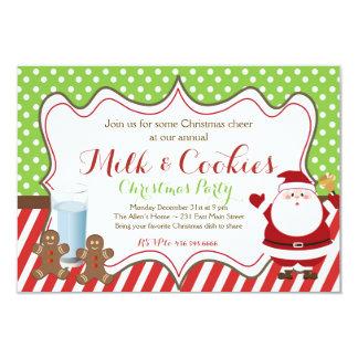 Invitación de la leche y del fiesta de Santa
