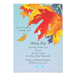 Invitación de la llovizna del otoño
