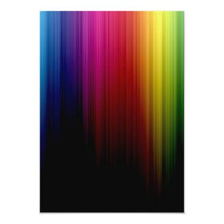 Invitación de la lluvia del arco iris