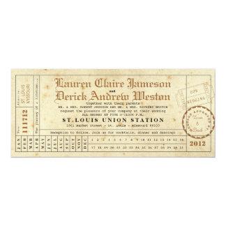Invitación de la longitud del té de la tarjeta de invitación 10,1 x 23,5 cm