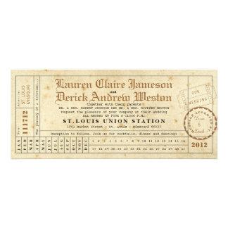 Invitación de la longitud del té de la tarjeta de