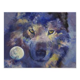 Invitación de la luna del lobo gris