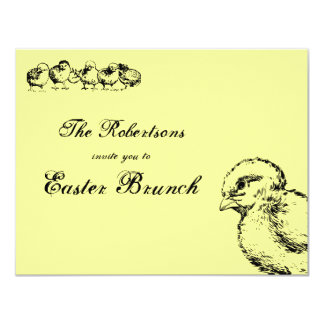 Invitación de la luz del brunch de Pascua de los