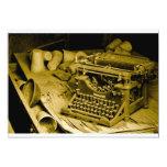 invitación de la máquina de escribir invitación 12,7 x 17,8 cm