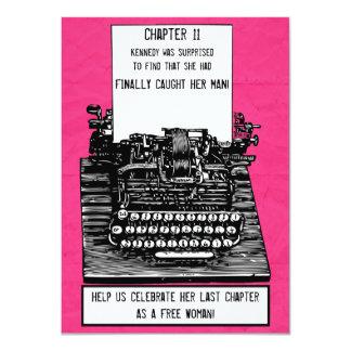 Invitación de la máquina de escribir del vintage