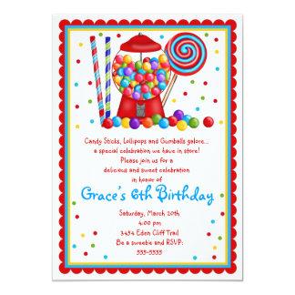 Invitación de la máquina y del caramelo de Gumball