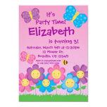 Invitación de la mariposa y de la fiesta de invitación 12,7 x 17,8 cm