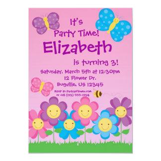 Invitación de la mariposa y de la fiesta de