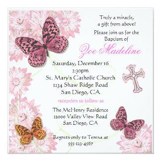 Invitación de la mariposa y del bautismo de las
