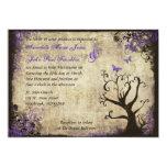 Invitación de la mariposa y del boda del vintage invitación 12,7 x 17,8 cm