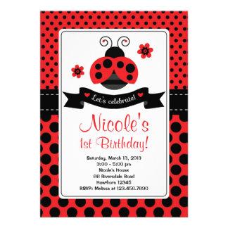 Invitación de la mariquita señora Bug Invitation