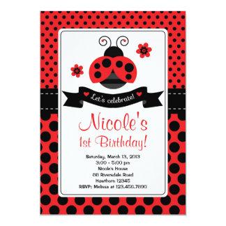 Invitación de la mariquita/señora Bug Invitation