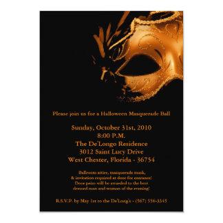 invitación de la máscara de la bola de mascarada