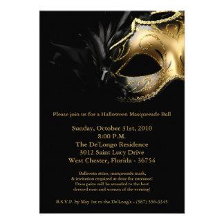 invitación de la máscara de la bola de mascarada d