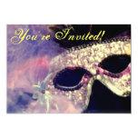 Invitación de la máscara del carnaval