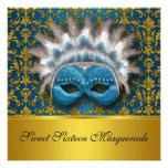 Invitación de la mascarada del dulce dieciséis