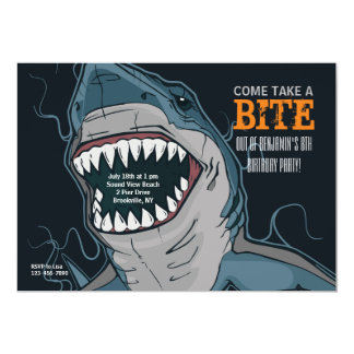 Invitación de la mordedura del tiburón
