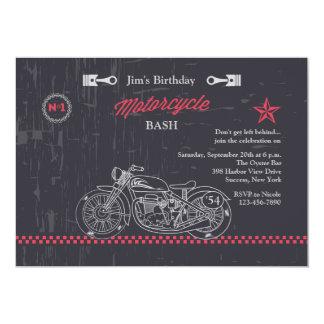 Invitación de la motocicleta de la pizarra