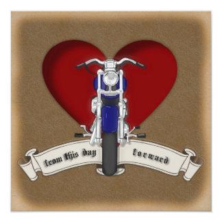Invitación de la motocicleta del estilo del