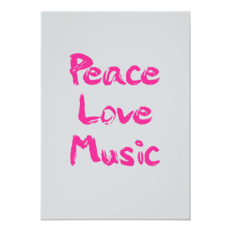 Invitación de la música del amor de la paz