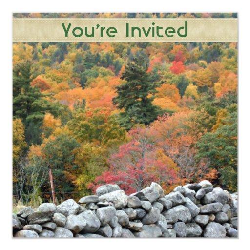 Invitación de la naturaleza de la pared de piedra
