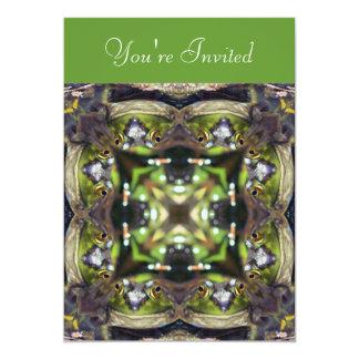 Invitación de la naturaleza de la rana mugidora invitación 12,7 x 17,8 cm