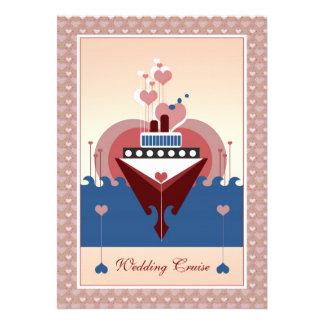 Invitación de la nave del corazón de la travesía d