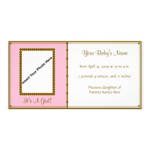 Invitación de la niña tarjetas personales con fotos