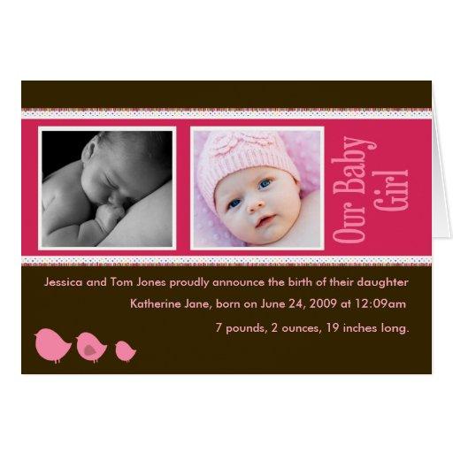 Invitación de la niña tarjeta de felicitación