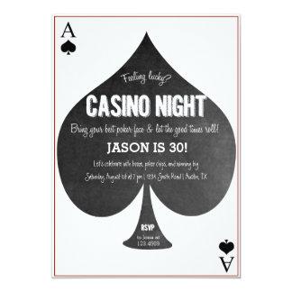 Invitación de la noche del casino