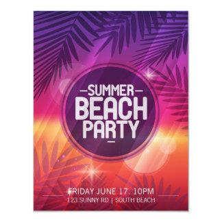 Invitación de la noche del fiesta de la playa del