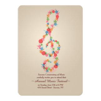 Invitación de la nota de la música