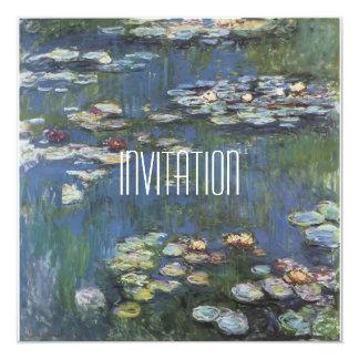 Invitación de la obra clásica de Monet del arte