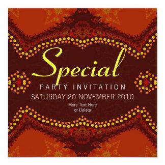 Invitación de la ocasión especial de EarthTribe v2 Invitación 13,3 Cm X 13,3cm