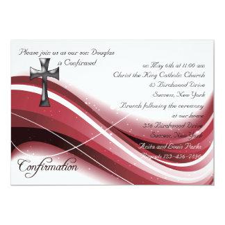 Invitación de la onda de la confirmación invitación 12,7 x 17,8 cm