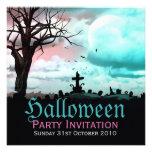 Invitación de la oscuridad del cementerio de Hallo
