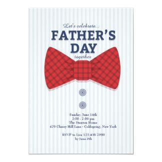 Invitación de la pajarita del día de padre