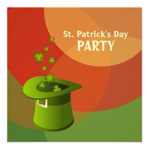 Invitación de la parte del irlandés del día de St