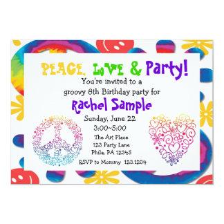 Invitación de la paz, del amor y del fiesta
