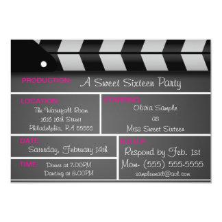 Invitación de la película del dulce dieciséis