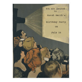 Invitación de la película del vintage postales