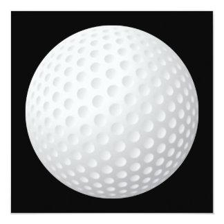 Invitación de la pelota de golf