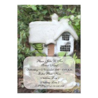 Invitación de la pintura de la cabaña del jardín