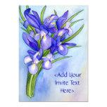 Invitación de la pintura de la flor del ramo del invitación 12,7 x 17,8 cm