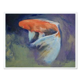Invitación de la pintura de los pescados de Koi